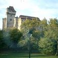 車窓から眺めた古城