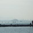 沙弥島・西の浜から見た海